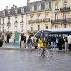 Biciclistă