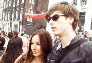 August 2009 - Eu și prietenul meu din Olanda la Gay Pride