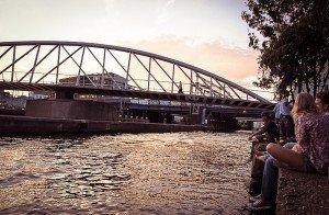 Iulie 2012 - Apus de soare la Hanneke`s Boom, una dintre locațiile mele preferate din Amsterdam