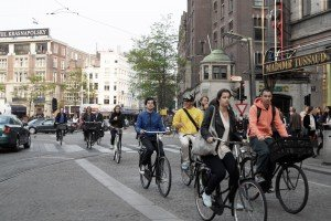 Bicicliștii din Amsterdam