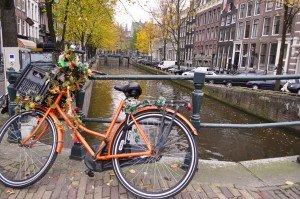 Bicicletă în ton cu toamna