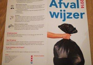 Pliant cu instrucțiuni pentru aruncarea gunoiului
