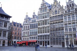 Antwerpen într-o zi de iarnă