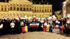 Protest anticorupție în Olanda. Suntem departe, dar ne pasă