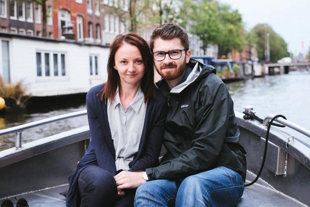 Cu Bianca la o plimbare pe canalele Amsterdamului