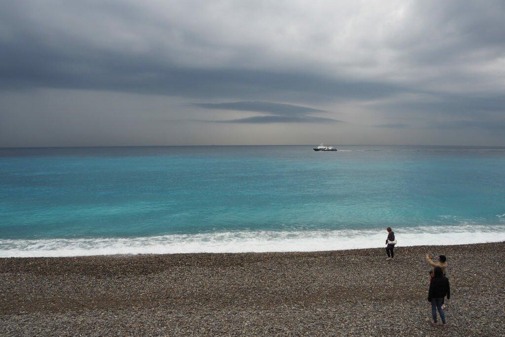 Plaja din Nisa, înainte de furtună